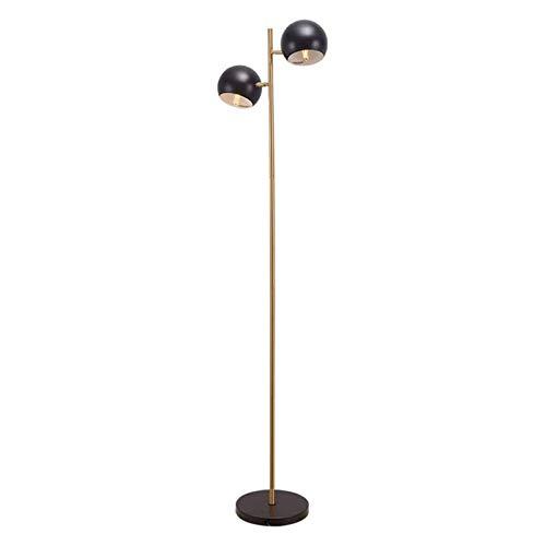 HCYY Lámpara de pie Ajustable Lámpara de pie de árbol LED Decoración Moderna y contemporánea - Lámpara de pie con 2 Postes de luz - Luz Alta para Sala de Estar, Dormitorio y Oficina, Dorada,