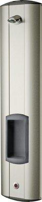 Franke Duschpaneel aus Edelstahl für Aufputzmontage für Batterie- oder Netzbetrieb, Variante:Mit winkelverstellbaren Duschkopf