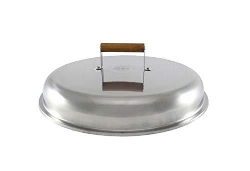 MUURIKKA Deckel 44cm für Feuerpfannen, Bratpfannen, Wok-Pfannen und Paella Pfannen, Edelstahl, Universal