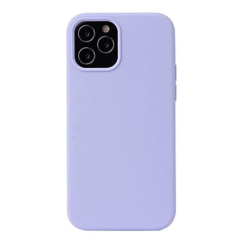 ESONG Funda para Xiaomi Poco F3 GT, Protección de la Pantalla y la Cámara, Carcasa Silicona Líquida Funda Protectora Fina Parachoques Prueba de Golpes Suave Caso para Xiaomi Poco F3 GT-púrpura