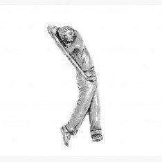 Hartzinn Golf Anstecker oder Brosche für Schal, Hut , Mantel oder Tasche