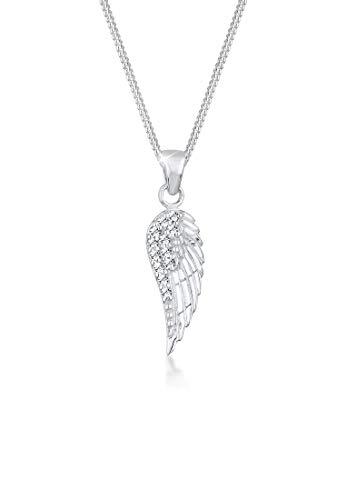 Elli Halskette Damen Flügel Anhänger mit Kristallen in 925 Sterling Silber