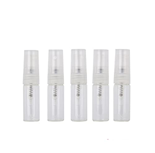 CHEN-C Botella de Spray 5pcs 5ml 10 ml Portátil Mini Perfume Botella de Botella Vacío Cosméticos Embotellado Toner Toner Spray Botella Nebulizador Recipiente cosmético Dispensador de Perfume