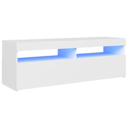 vidaXL Mueble para TV con Luces LED Soporte Armario Aparador Estante Salón...