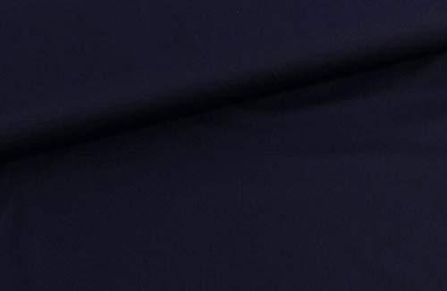 Qualitativ hochwertiger, Leichter und dehnbarer Softshell in unifarben Dunkelblau als Meterware zum Nähen von Baby, Kinder- und Damenkleidung, 50 cm