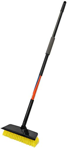 Unger - 970750 Outdoor Deck Scrub Brush and Squeegee with 45' Pole