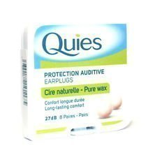 THREE PACKS of Quies Boules Wax Earplugs 8 Pairs by NA