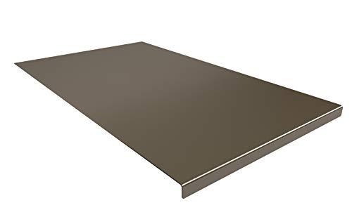 INOXLM Tagliere Spianatoia Piano di Lavoro in Acciaio Inox Varie Misure per Cucina per Bar per Ristorante per impastare (30x50 Piega 2 cm)