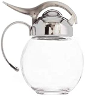Millvado 10 Ounce Glass Sugar/Syrup Dispenser | Restaurant Style, Beautiful Design, Holds 10 Ounces, Perfect for Sugar, Ho...