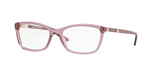 Versace 0VE3186 Monturas de gafas, Transparente Violet, 52 para Mujer