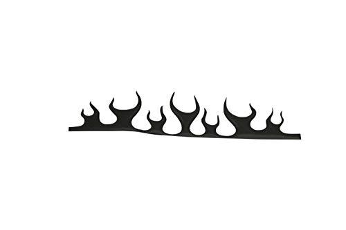 Highway Hawk - Pegatina para Intermitente, diseño de Llamas, Color Negro