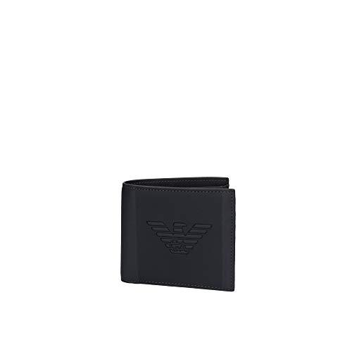 Armani Herren Kunstleder Maxi Logo Brieftasche Einheitsgröße blau_navy, blau