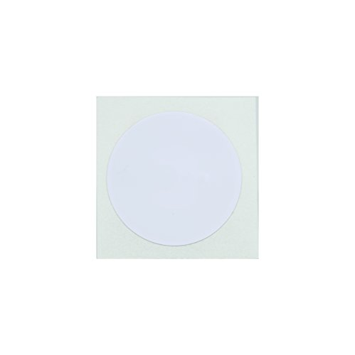 10 White NFC Tag Stickers 25mm (1 inch) Round - 888 Bytes NTAG216, Compatible with all NFC-capable phones