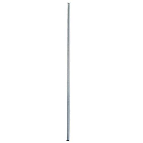 PremiumX 2m Antennenmast Stahl Ø 48mm SAT Mast Steckmast Satmast verzinkt Antenne Montage Stange Stangenrohr steckbar