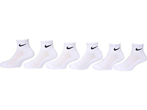 NIKE Little Kids Ankle Socks Cushioned (6 Pairs) White