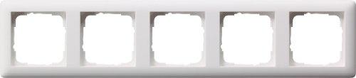 Gira 21504 Rahmen 021504 5fach Standard 55 reinweiss matt, Weiß