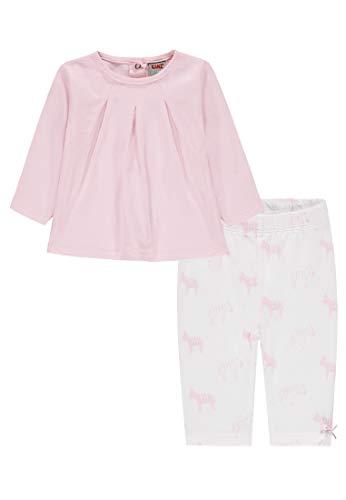 Kanz Set 2tlg. (Tunika 1/1 Arm + Leggings) Conjunto de Ropa, Rosa (Sweet Lilac|Rose 2010), 56 cm (Talla del Fabricante: 56) para Bebés