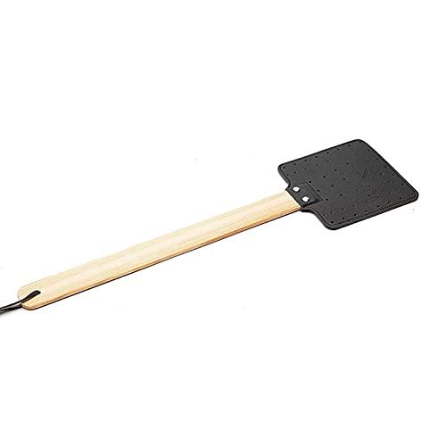 woyufen Fliegenklatsche Ich Mach Dich Platt, Fliegen-Klatsche, Holz & Kunstleder, Praktischer Mücken-Schläger Gegen Insekten, Fliegenpatsche & Insektenvernichter