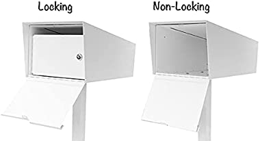Modern Mailbox | Post Mounted Mailbox (Black with Post)