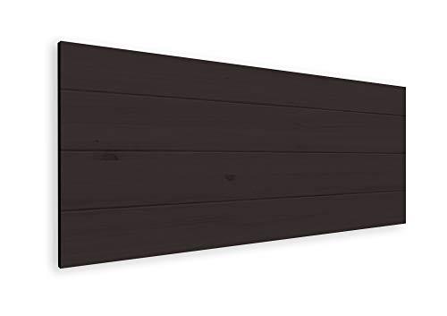 LA WEB DEL COLCHON - Cabecero de Madera Nórdico para Cama de 90 (100 x 44 cms.) Barnizado Nogal | Cabezal Cama | Cabeceros Madera | Dormitorio Matrimonio | Cama Juvenil | Vintage | Estilo nórdico