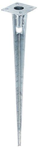 GAH-Alberts 658670 Einschlag-Bodenhülse für Stahlrohr-Zaunpfosten, feuerverzinkt, Ø38/750 mm