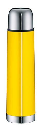 alfi 5457.200.075 Isolierflasche IsoTherm Eco, Edelstahl Sun Yellow, 0,75 Liter, Drehverschluss, 12 Stunden heiß, 24 Stunden kalt, BPA-Free