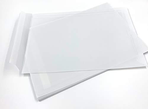 25 transparente Versandtaschen, C4 = 324 x 229 mm, Haftklebestreifen, 100 g/qm