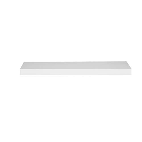 WOLTU Estantería Flotantes Blanco Baldas 100cm Estante para Pared de Tablero de Madera RG9317ws