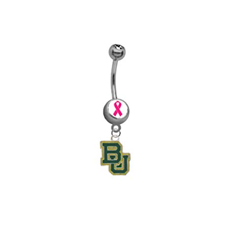 "Baylor Bears ""Breast Cancer Awareness"" Belly Button Navel Ring"