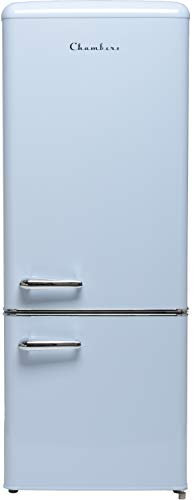 57 in. H 7 cu. ft. Bottom Freezer Energy Star Refrigerator in Light Blue