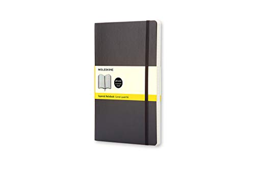 Moleskine Notebook Classic Copertina Morbida - Quaderno a Pagine con Quadretti, Large, Nero
