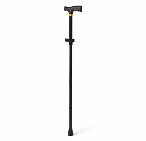 Medline Folding Cane, Black