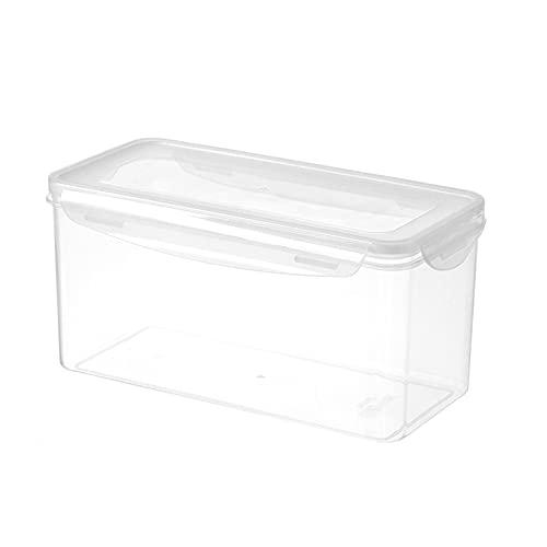 LUOLUOSM Contenedores de Alimentos Caja de Almacenamiento de Alimentos Transparente sellada Refrigerador de plástico Congelador Caja de Almacenamiento en frío Drenaje