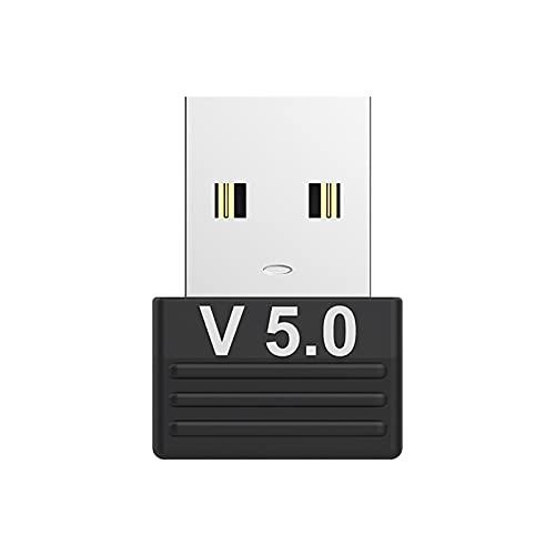 Adaptador Bluetooth 5.0, Adaptador Bluetooth USB PC,  receptor Bluetooth para PC Portátil,  compatible con Windows 10/8/8.1/7, transmisión inalámbrica para auriculares Bluetooth, altavoz, teclado y ratón