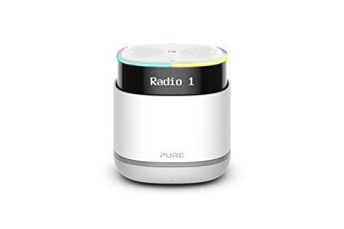 Altavoz de radio digital inalámbrico Pure StreamR portátil con tecnología de voz Alexa y transmisión por Bluetooth, gris piedra