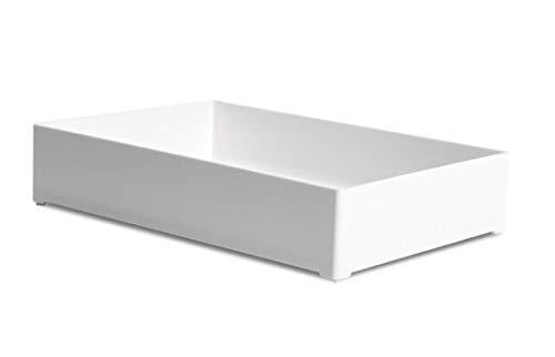 収納ボックス デスクトレー 卓上収納 プラスチック 白 ホワイト 小物整理ケース 積み重ね 頑丈 おしゃれ 整理整頓 オフィス収納 キッチン収納 メイク収納 幅20x奥行30x高さ6cm
