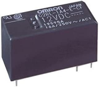 OMRON ELECTRONIC COMPONENTS G2RL-1-E DC12 POWER RELAY, SPDT, 12VDC, 16A, PC BOARD (10 pieces)