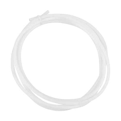 Liujaos PTFE Tube, 2.15-2.20G / Cm3 Density PTFE Pipe, 1.5/2 M Long 2MM Inner Diameter Office for 3D printers General Purpose Professional Use(2M)