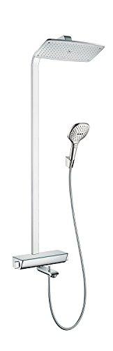 Hansgrohe 27113000 Raindance Select E 360 columna de ducha para bañera, 3 tipos de chorro, cromo