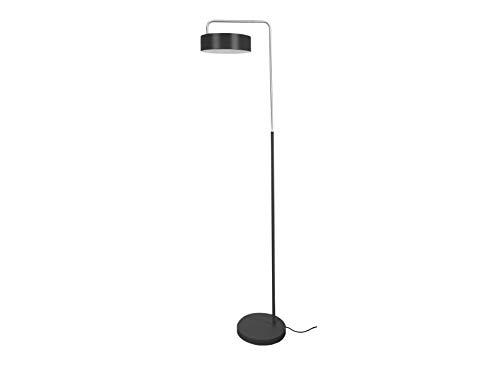 LEITMOTIV vloerlamp Curve ijzer mat zwart