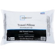 Mainstay 100 Percent Polyester Travel Pillow 14' x 20' in White - Pack of 4