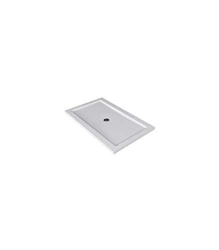 Teuco - Douchebak rechthoekig wit mat Papier - 120x70, Ondoorzichtig wit, Op voorraad