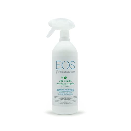 EOS (1 litro) Elimina olores de Mascotas al instante. Anti olor orines de Perros, Gatos... Aplicar en sofás, arenero, cesped, Coche... Detergente enzimatico perros. Repelente de micciones gatos. ✅