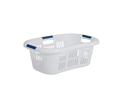 Rubbermaid Hip Hugger Laundry Basket, Standard, White, 1.86 cu ft