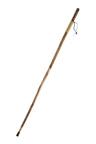 SE Survivor Series Rope Wrapped Wooden Walking/Hiking Stick with Hand-Carved Eagle Design, 55