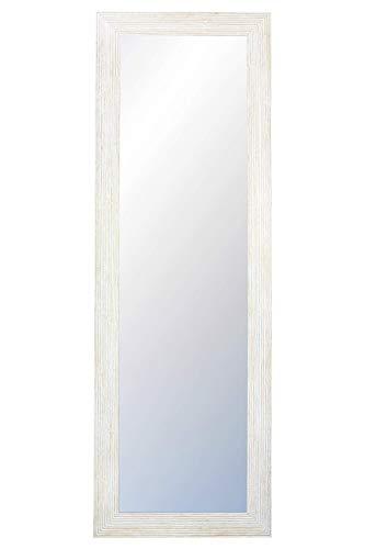 CHELY INTERMARKET, Espejo nordico Pared 35x140cm (47x152cm) Blanco-Nordico/Mod-110 / Ideal para peluquerías, salón, recibidor, Comedor, Dormitorio y oficinas. Fabricado en España. Madera Maciza.