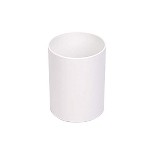 JUNGEN Portalápices de oficina de redondo Titular de pluma Portaplumas de almacenamiento de escritorio Portalápices de plástico para Lapiz Cepillos Pincel de maquillaje (Blanco)