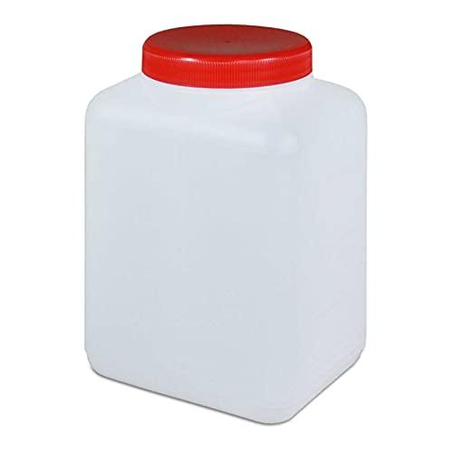 1500 ml Plastikflasche Weithalsflasche mit Deckel Behälter PE-Flasche lebensmittelecht Küche Hobby Aufbewahrung absolut dicht