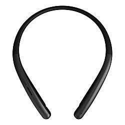 powerful Adjusted by LG Tone Style HBS-SL6S Wireless Bluetooth Stereo Headphones (with Neckband), Meridian Audio Black