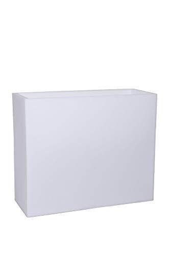 Vivanno Pflanzkübel Raumteiler Kunststoff beleuchtet Weiß ELEMENTO 75x90x35